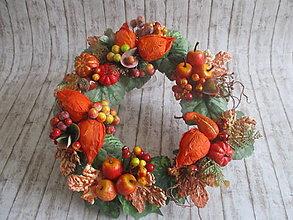 Dekorácie - Jesenný venček - 13528127_