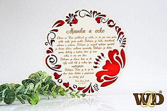 Dekorácie - Poďakovania rodičom MAXI - 13527163_