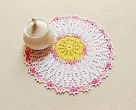 Úžitkový textil - Háčkovaná dečka Kvietok - 13527886_