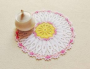 Úžitkový textil - Háčkovaná dečka Kvietok - 13527887_