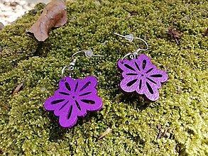 Náušnice - Náušničky kvetinky malé fialové - 13527675_