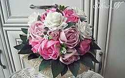 Dekorácie - Gratulačna kytica. - 13526854_