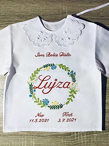 Detské oblečenie - Košielka krst - venček bylinky - 13526363_