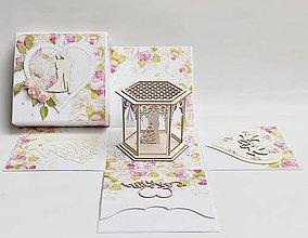 Papiernictvo - Svadobná darčeková krabička na peniaze - 13528406_