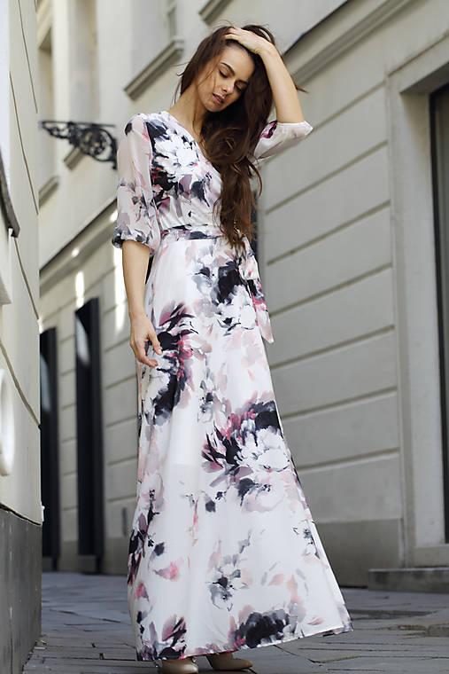 Zavinovacie šaty Biela