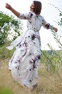 Šaty - Zavinovacie šaty Biela - 13529955_