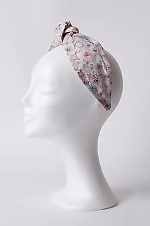 Ozdoby do vlasov - Čelenka ružová s drobnými kvietkami - 13528572_
