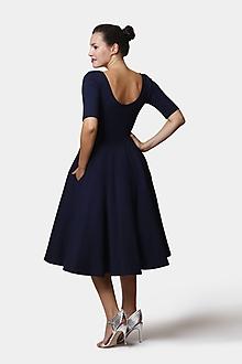 Šaty - Šaty Midi tmavo modré - 13528577_