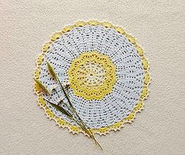 Úžitkový textil - Háčkovaná dečka Kvietok - 13529291_