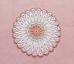 Úžitkový textil - Háčkovaná dečka Kvietok - 13529371_