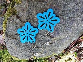 Náušnice - Náušničky kvetinky malé modré - 13528674_