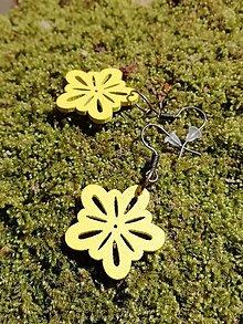 Náušnice - Náušničky kvetinky malé žlté - 13529155_