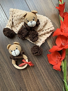 Hračky - baby SET 2ks - macko Cappuccinko - 13529491_