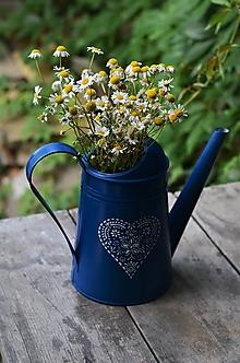 Nádoby - Modrá krhlička - 13532010_
