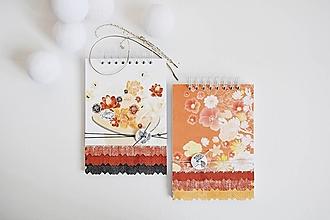Papiernictvo - Blok/zápisník A5 - oranžové kvety - 13530352_