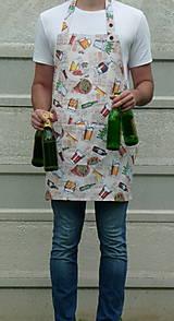 Iné oblečenie - Zástera Pivo na béžovej - 13531848_
