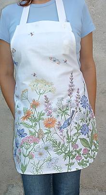 Iné oblečenie - Zásterka Lúčne kvety - 13531804_