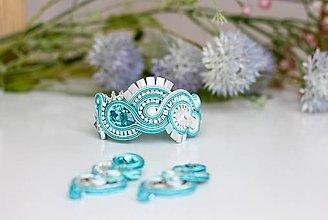 Náramky - Svadobný šujtášový náramok Valentína - 13530778_