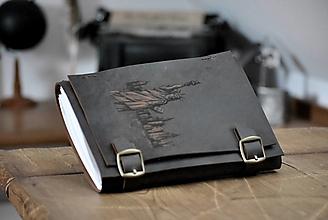 Papiernictvo - kožený midori zápisník NEW YORK - 13531082_