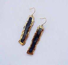 Náušnice - TANA hand made jewellery - keramika/zlato - 13531925_