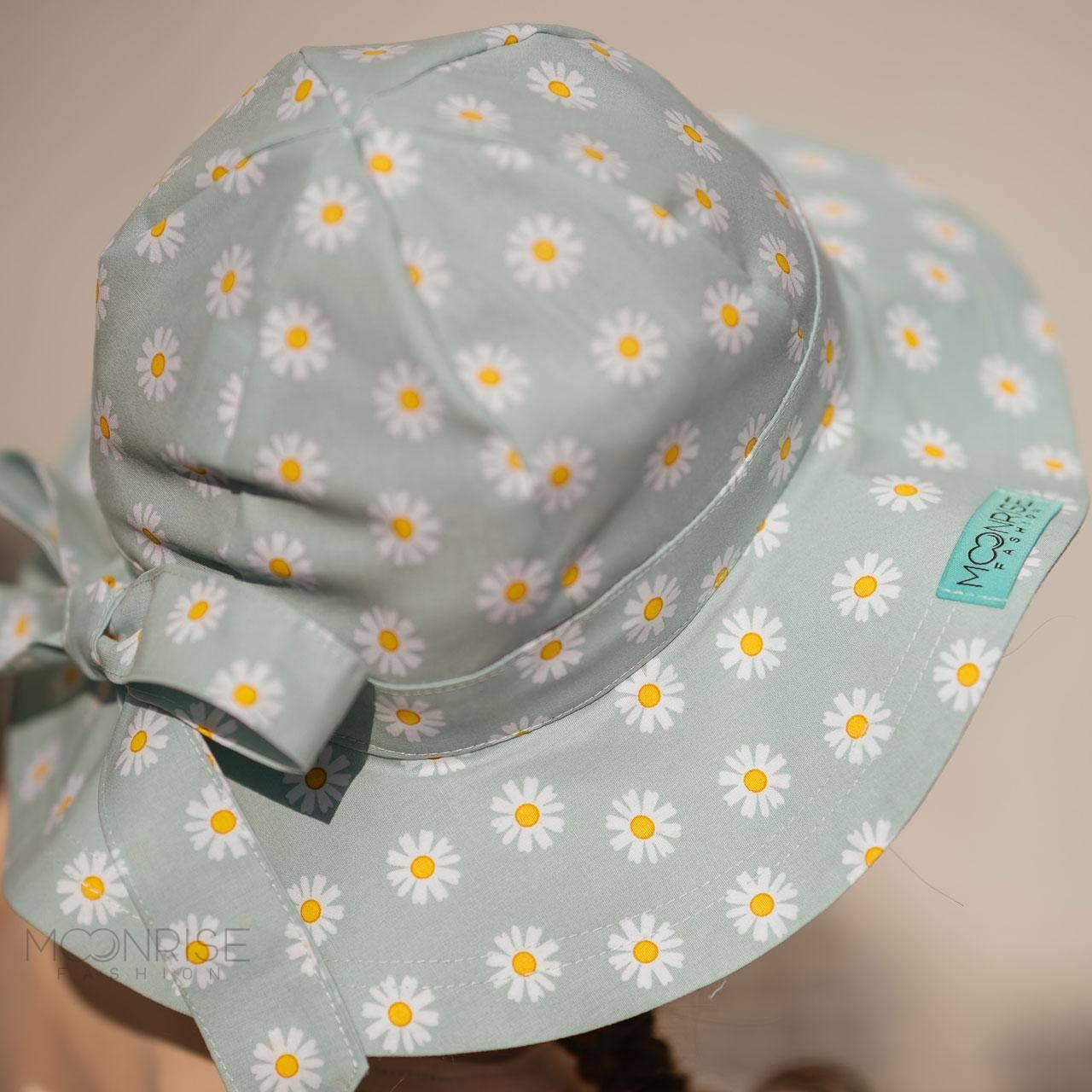 Detský klobúk daisy mint