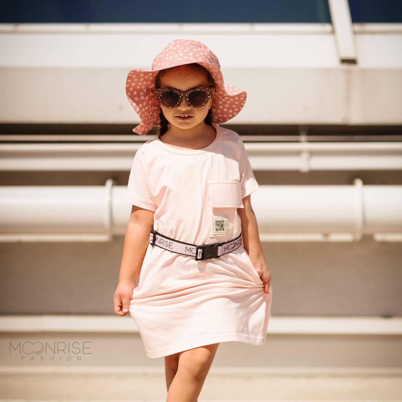 Organické šaty oversize - light rosa