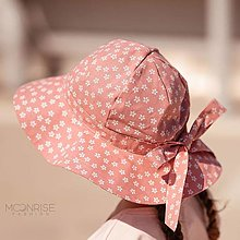 Detské čiapky - Detský klobúk mini daisies blush - 13531850_