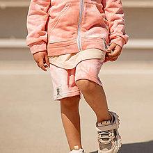 Detské oblečenie - Detské kraťasy - all eyes on me pink - 13531940_