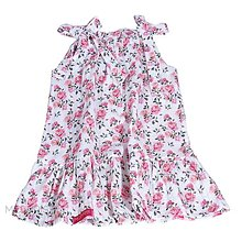 Detské oblečenie - Mušelínové šaty - roses - 13532025_