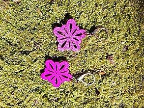Náušnice - Náušničky kvetinky malé tmavo ružové - 13530535_