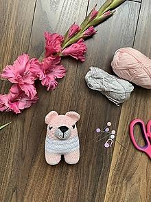 Hračky - spinkáčik Macko Písk - v ružovom - 13531684_