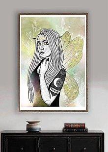 Grafika - Art Print- Grafika Elfie Nelfie - 13531561_