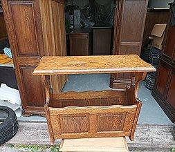 Nábytok - Stolík a stojan na noviny v jednom podľa Vašej predstavy - 13531238_
