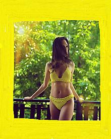 Bielizeň/Plavky - Háčkované plavky Banana - 13531252_