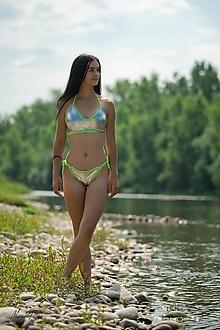 Bielizeň/Plavky - Strieborné plavky - 13531575_