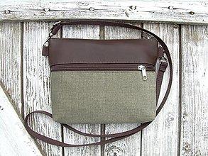 "Taštičky - ""mini city bag 3in1- olive"" -ľadvinka+taška - 13530950_"