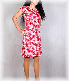Šaty - Šaty s řasením v pase vz.691 - 13534652_