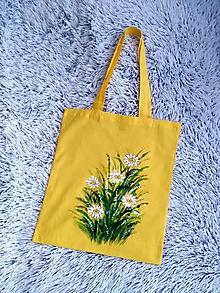 Nákupné tašky - Margarétky... maľovaná nákupná taška - 13534420_