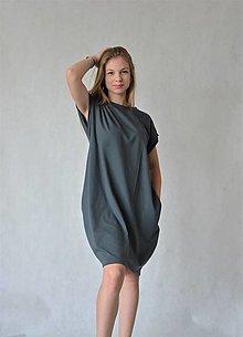 Šaty - Úpletové dámske šaty/tunika BEA Antracit - 13532789_