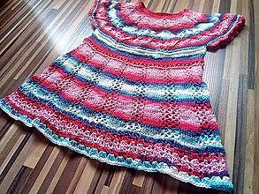 Detské oblečenie - Detské pletené letné šaty - 13532657_