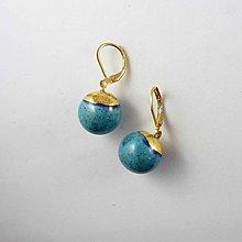 Náušnice - TANA hand made jewellery - keramika/zlato - 13532979_