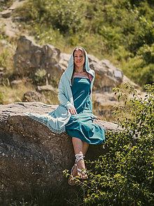 Šaty - Sukňo-šaty dlhšie (M - Zelená) - 13534447_
