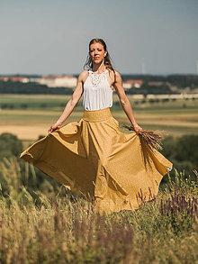 Sukne - Kruhová sukňa (S - Žltá) - 13534959_