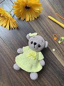 Hračky - macko Mini výletník - v žltom - 13534246_