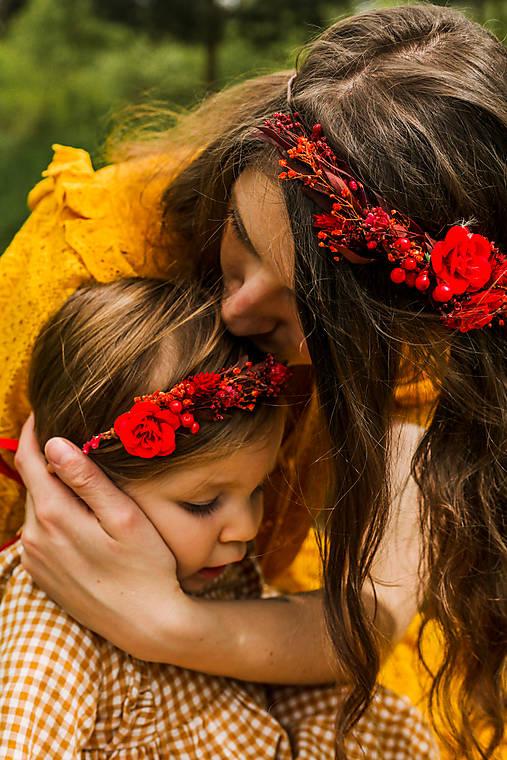 """Set venčekov mama/dcéra """"vášeň v srdci ukrytá"""""""