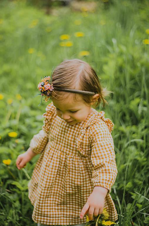 """Kvetinová čelenka """"lúka plná úsmevov"""""""