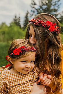 """Ozdoby do vlasov - Set venčekov mama/dcéra """"vášeň v srdci ukrytá"""" - 13532942_"""