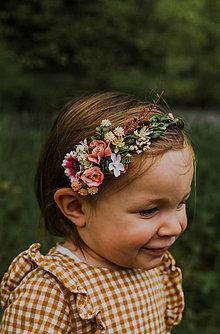 """Ozdoby do vlasov - Kvetinová čelenka """"keď vonia marhuľový set"""" - 13533107_"""