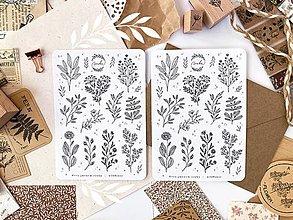 "Papier - Samolepky ""wildflower"" - 13533858_"