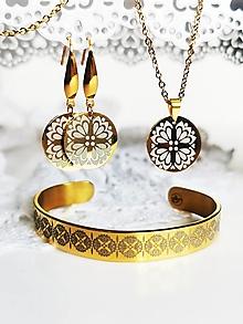 Sady šperkov - Margarétky - cenovozvýhodnená sada - 13537250_